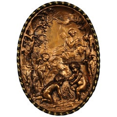 18th Century French Bronze Plaque
