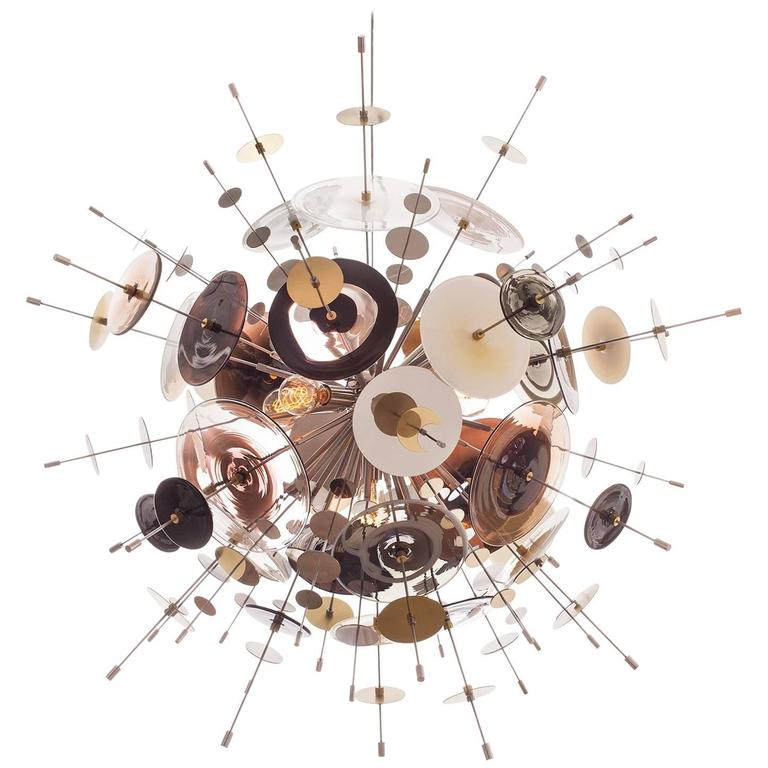 Confetti glass black and white chandelier by avram rusu studio for confetti glass black white chandelier by avram rusu studio for sale aloadofball Images