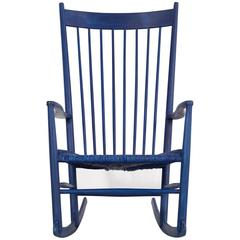 Mid-Century Modern Hans Wegner Rocking Chair