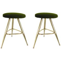Pair of Italian Brass Stools