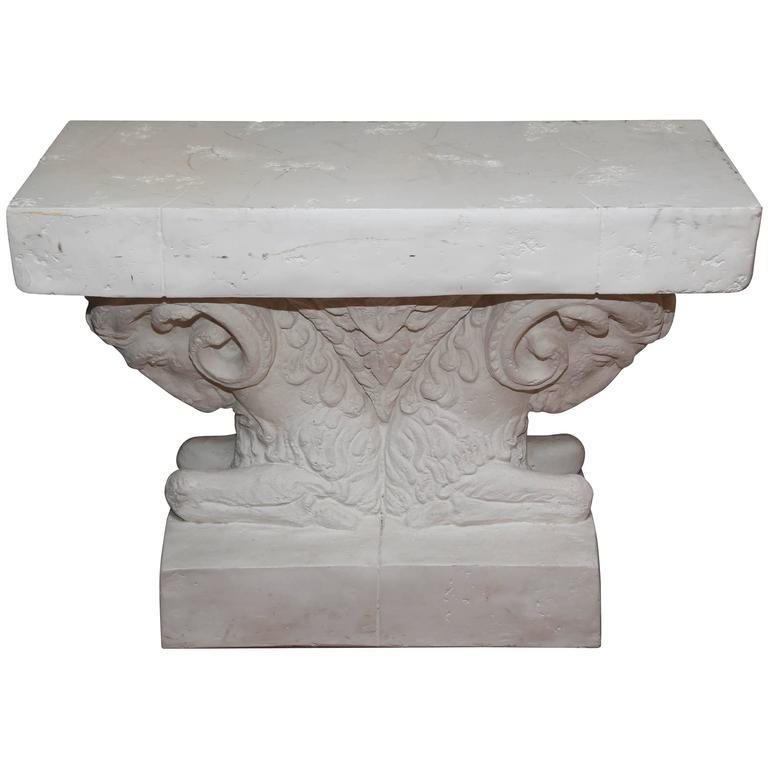 Double Ram's Head Table Base