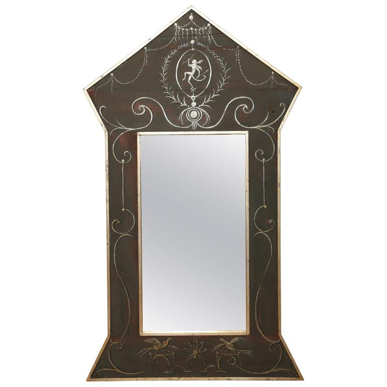 Architectural Faux Painted Mirror