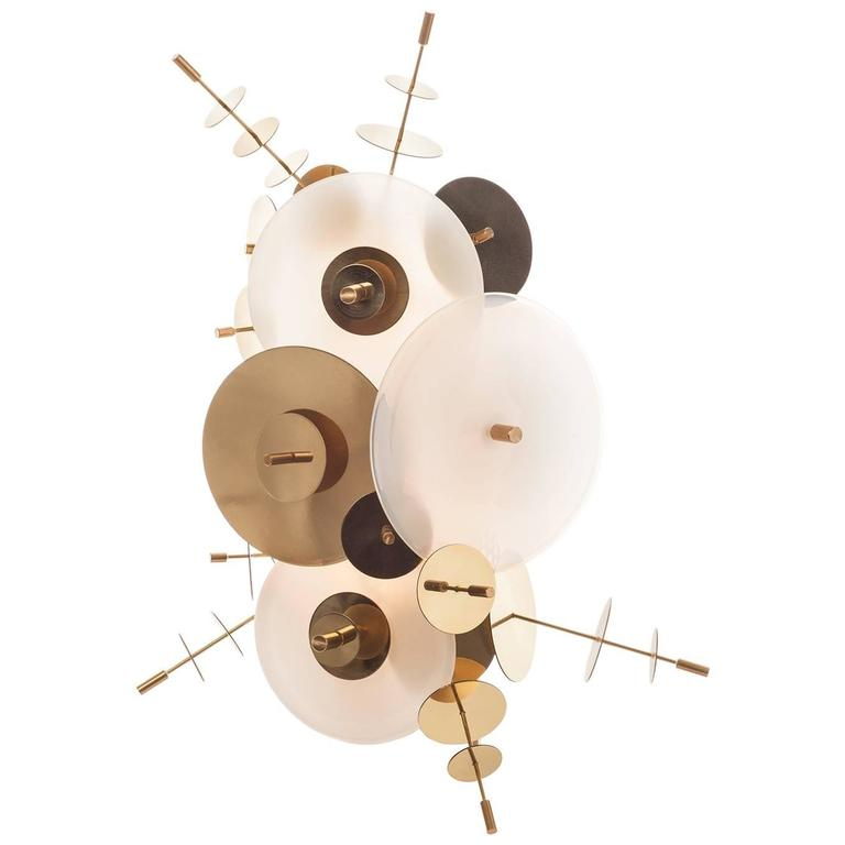 White Confetti Collection Sconce by AVRAM RUSU STUDIO For Sale