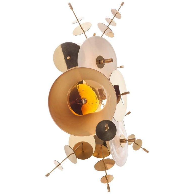Amber Confetti Collection Sconce by AVRAM RUSU STUDIO For Sale