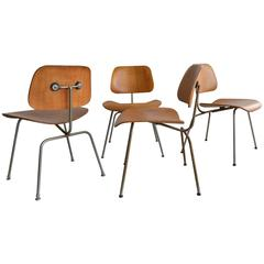 Set of Four Early Charles Eames DCM Dining Chairs