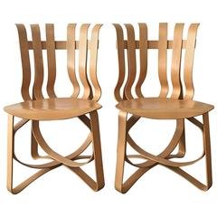Pair of Frank Gehry Hat Trick Chairs