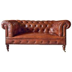 Howard & Sons Antique Chesterfield Sofa Settee, Victorian, 19th Century