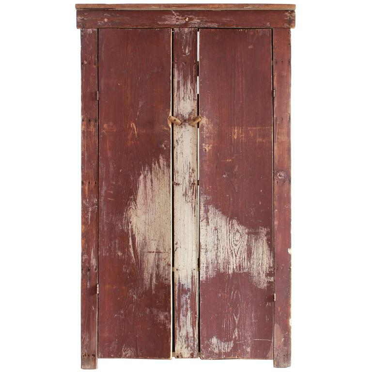 Tall Rustic Two Door Painted Cabinet 1