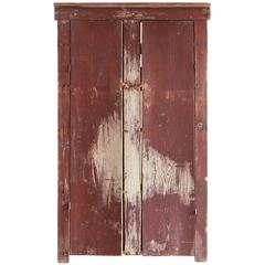 Tall Rustic Two Door Painted Cabinet