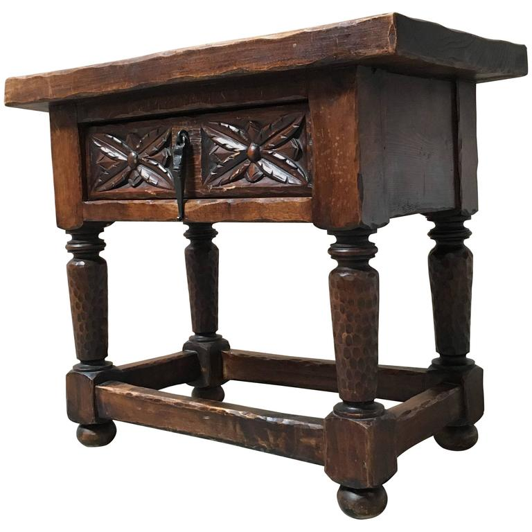 Gothic Style Side Table For Sale