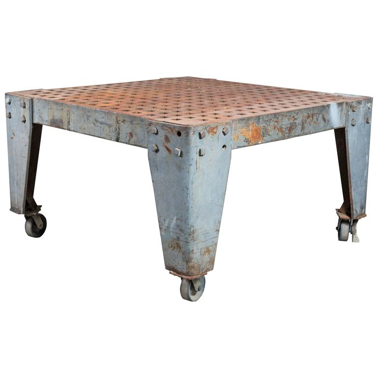 Cast Iron Vintage Industrial Welder's Table