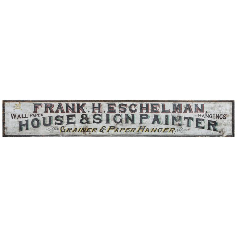 "Late 19th Century ""House & Sign Painter"" Trade Sign 1"