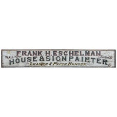 """Late 19th Century """"House & Sign Painter"""" Trade Sign"""