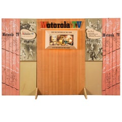 Mid-Century Motorola Television Lighted Trade or Store Display