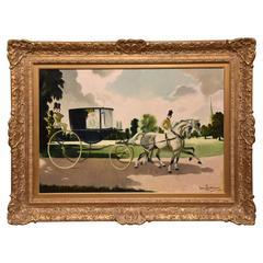 """""""The Wedding Carriage"""" by Doris Zinkeisen"""
