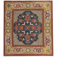 Square Rugs Handmade Carpet Antique Rugs, Kilim Rugs Luxury Rustic Oriental Rugs