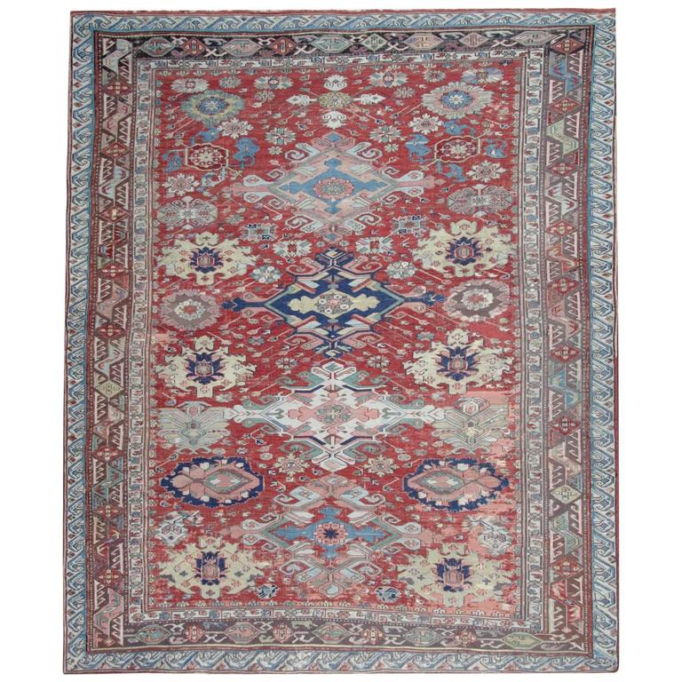 Antique Persian Rugs from Caucasia, Soumak Flat-Weave Rug