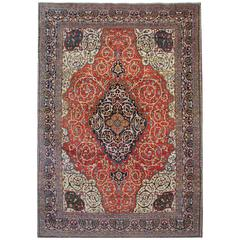 Antique Persian Rugs, Carpet Rug From Mahal