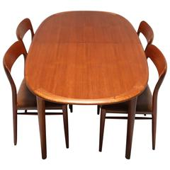 Mid Century Niels O. Møller Dining Table and Chairs