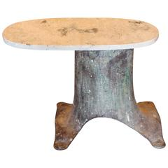 Vintage French Industrial Element as End Table