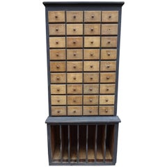 Early 20th Century Pharmacist Chest of Drawers
