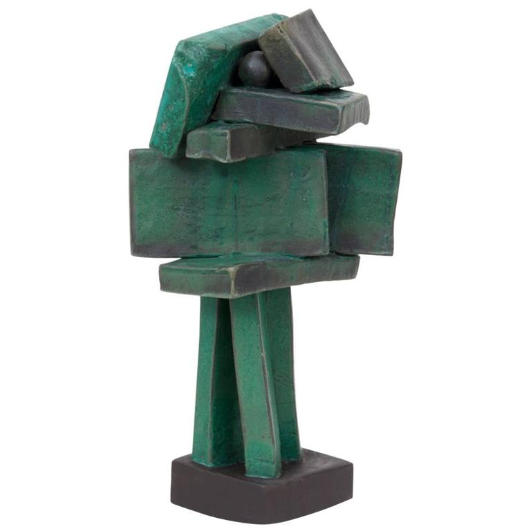 Modernist Ceramic Sculpture by Judy Engel For Sale