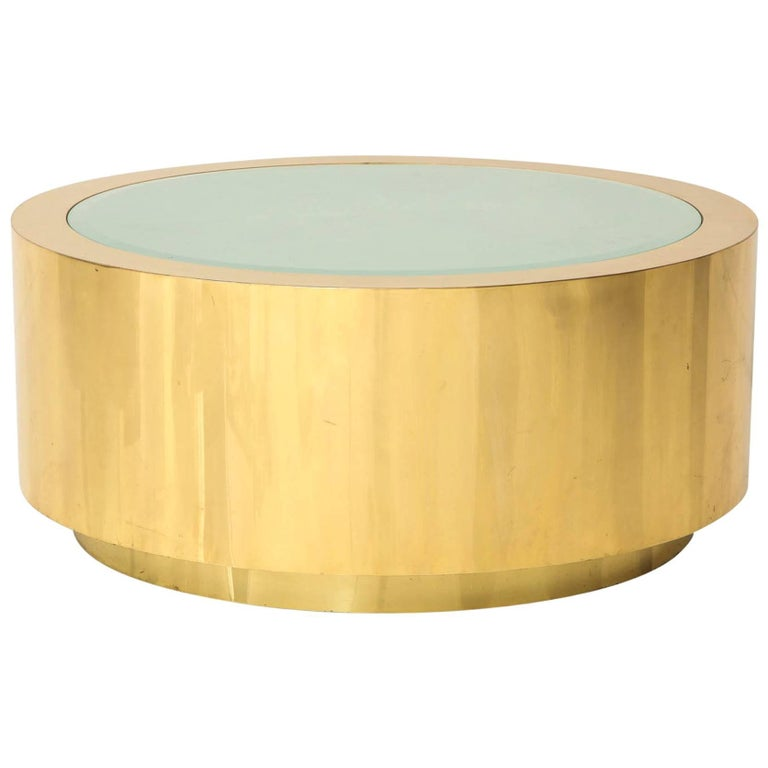 Fabulous Brass and Glass Coffee Table by Steve Chase For Sale