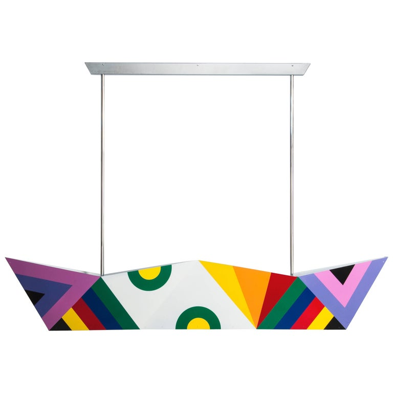 "Ceiling lamp ""Deriva"" Decoration 3, Alessandro Mendini, Fragile Edizioni, 2015 For Sale"