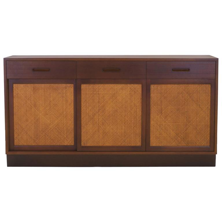 Edward Wormley for Dunbar Cabinet, Buffet or Sideboard, Three Sliding Doors