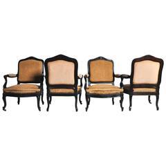 Set of Four Napoleon III Armchairs