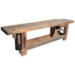 Work Bench with Original Patina