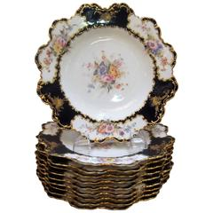 Set of 12 Royal Crown Derby Antique Accent Plates