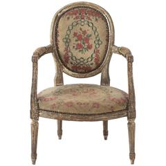 Louis XV Style Needlepoint Armchairs