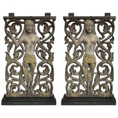 Pair of Anglo-Indian Cast Iron Architectural Panels