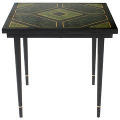 Faux Malachite Table