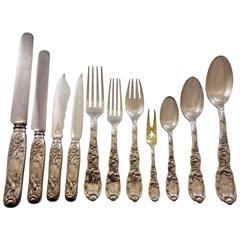 Chrysanthemum by Tiffany and Co Sterling Silver Flatware Set Service 241 pieces