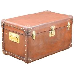 1920s Natural Leather Trunk