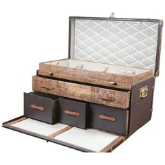 1930s Steamer Trunk, Commode