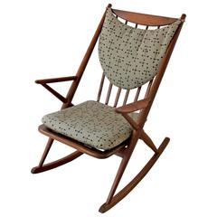 1960s Danish Modern Teak Rocking Chair by Frank Reenskaug for Bramin