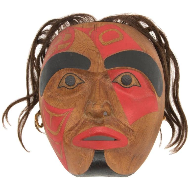 Northwest Coast Mask, Native American Killer Whale (Orca) Design For Sale