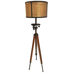 Antique Movie Camera Tripod Stand, Now as a Lamp
