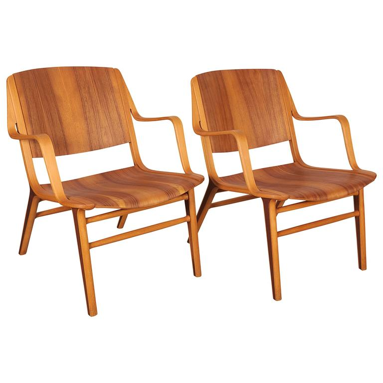 Pair of Danish Ax chairs by Hvidt & Mølgaard, 1950s
