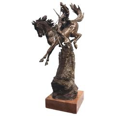 "Carl Kauba, Austrian, Bronze Sculpture ""The Scout"""
