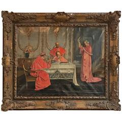 Antique Oil Painting, Signed Foron, circa 1850