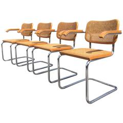 Four Cesca Armchairs Designed by Marcel Breuer for Knoll