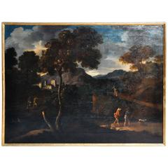 Flemish Oil Painting of a Landscape