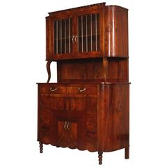 Early 20th Century Credenza Vitrine Art Nouveau by Meroni & Fossati Lissone