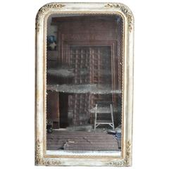 Gold Gilt French Mirror with Original Silver Backed Glass
