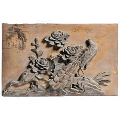Boisserie Panel with Carved Pheasants