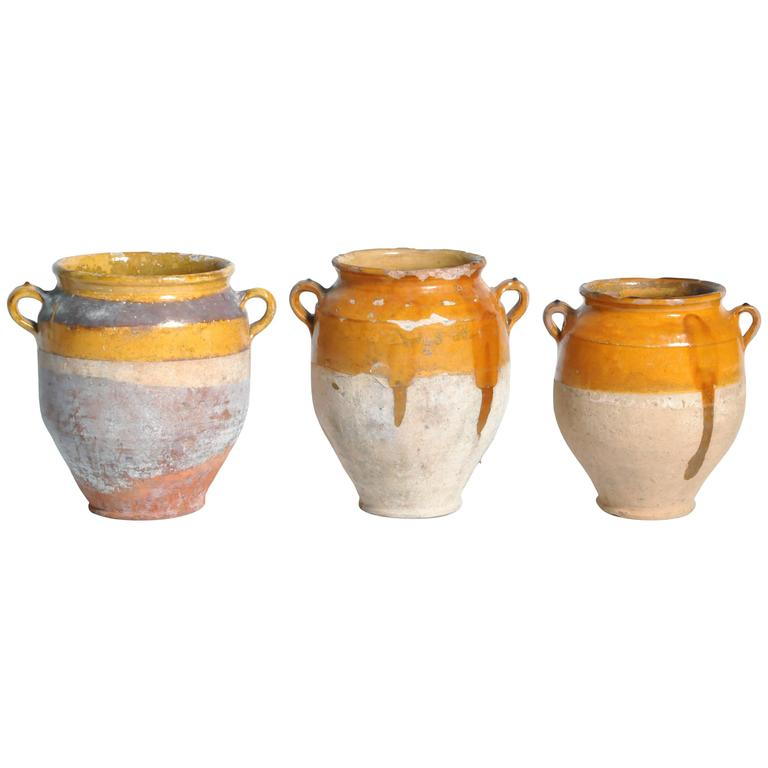 Ceramic Glazed Confit Jars